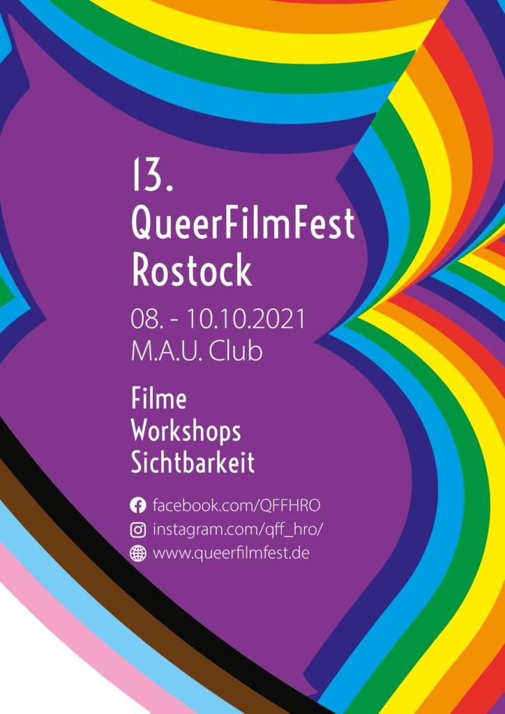 Flyer für das QFF vom 8. bis 10. Oktober 2021 im MAU Club